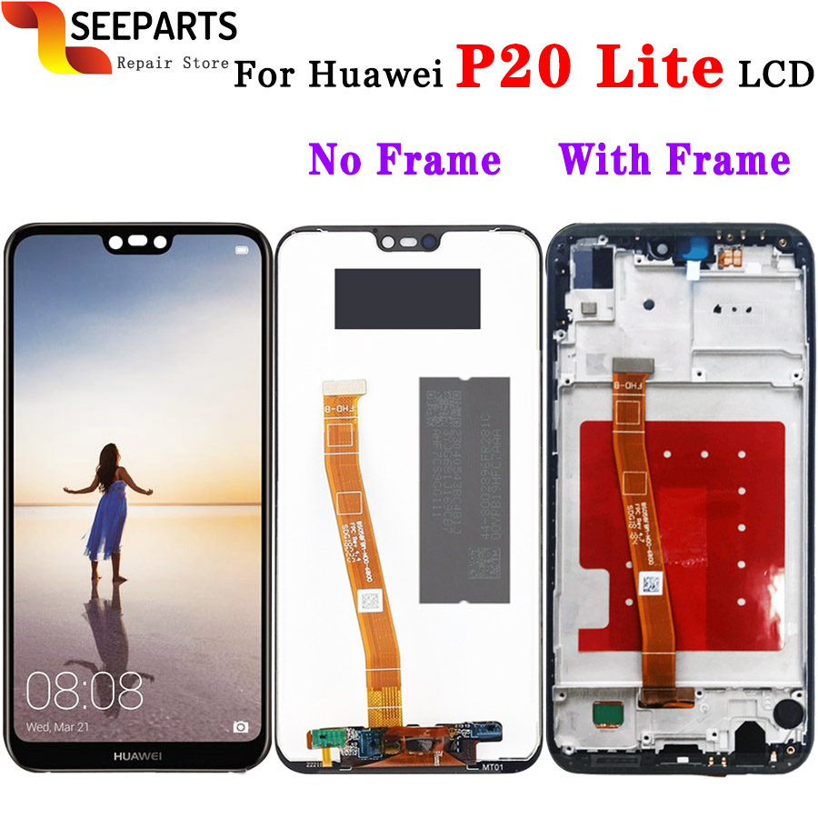 Huawei P20 Lite LCD Display +Touch Screen Digitizer Assembly replacement with frame for HUAWEI P20 Lite ANE-LX1 ANE-LX3 Nova 3eHuawei P20 Lite LCD Display +Touch Screen Digitizer Assembly replacement with frame for HUAWEI P20 Lite ANE-LX1 ANE-LX3 Nova 3e