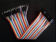 цена на 40PCS/LOT 15CM Dupont Wire Color Jumper Cable 2.54mm 1P-1P male to Female