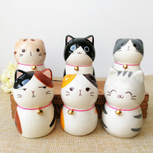 Creative Cute Kitty Decoration Desk Living Room Cabinet Ceramic Animal Decorations Home Accessories Modern Cat Gift