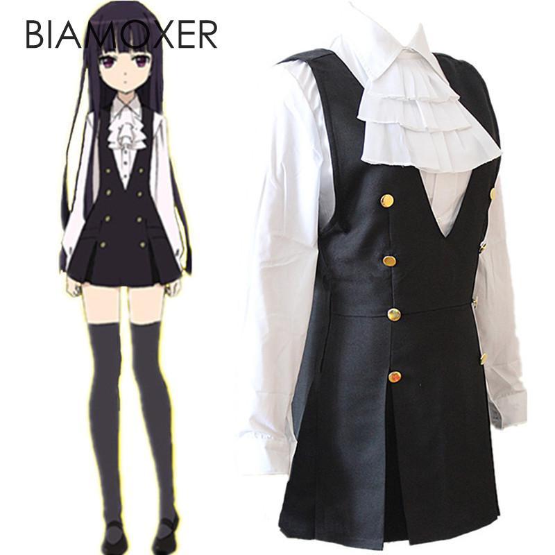 Inu x Boku SS Shirakiin Ririchiyo Cosplay Costume Roromiya Karuta  Dress Top Tie