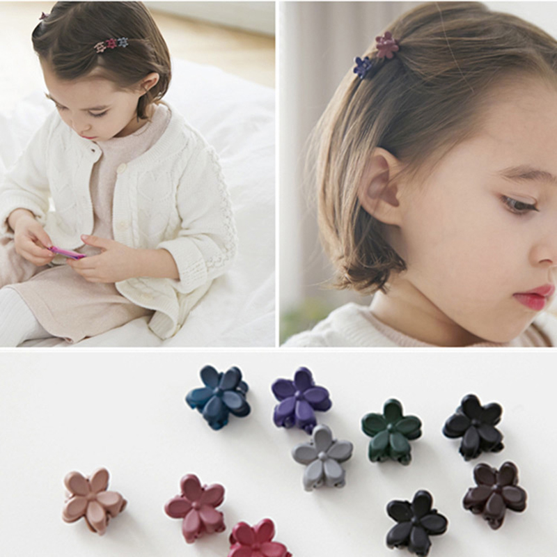 10PCS/Lot Girls Cute Colorful Cherry Blossoms Small Hair Claws Princess Lovely Hair Clip Hairpins Headband Kids Hair Accessories