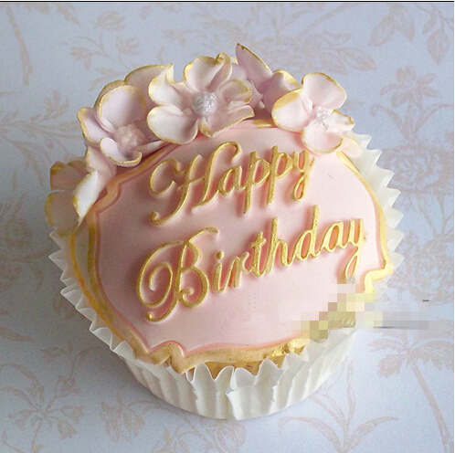 1PCS Food Grade Silicone Fondant Cake Tool Happy Birthday Shape For