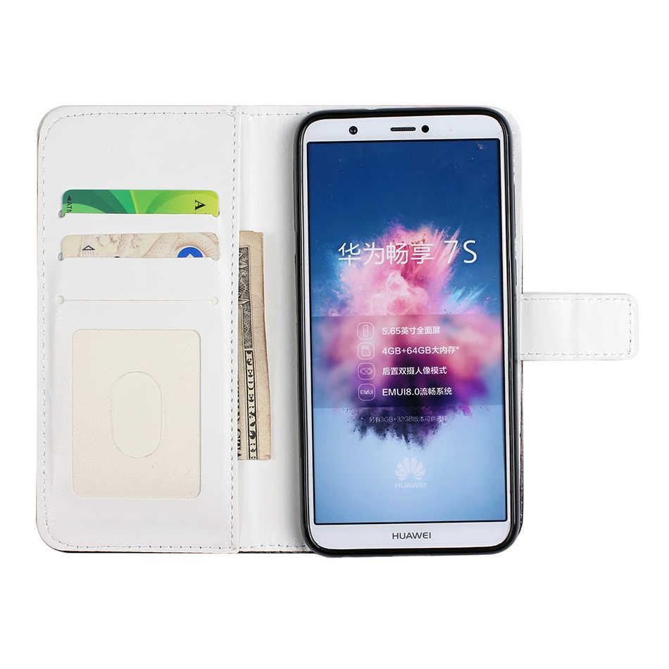 Moda patrón de cartera de la cubierta del teléfono para Huawei Mate 20 P inteligente P20 Pro P10 Lite Honor 10 Nova 2i disfrutar funda de cuero 7 S funda B146