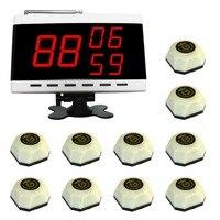Беспроводная система вызова, вызова службы больницы колокол система 10 шт. Белл и 1 шт. дисплее панели приемника.