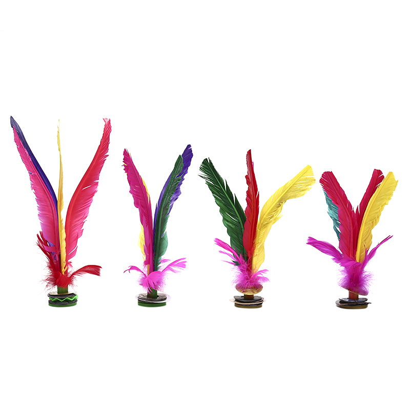1pc Fitness Entertainment China Jianzi Footbal Foot Kick Handwheel Fancy Goose Feather Shuttlecock For Physical Exercise