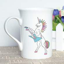 Cartoon Unicorn Printed White Mug