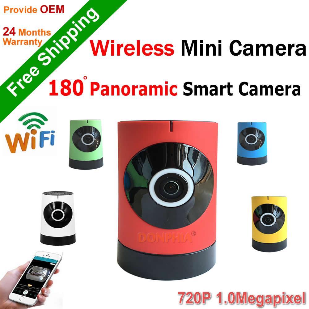 ФОТО 720P Wifi Camera Home security Mini CCTV Camera 180 degree fisheye Panoramic IP surveillance 1.0MP P2P Remote view plug and play