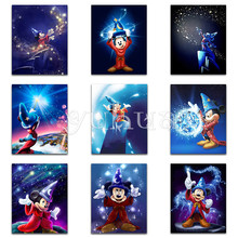 5D  Diamond painting Cartoon Mickey Mouse Full Square embroidery Cross stitch Round mosaic sale #