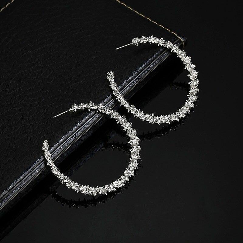 Золотые серебряные серьги-кольца простые круглые полые модные персонализированные подарочный набор украшений для ушей для свадебной вечеринки Kupe - Окраска металла: Silver