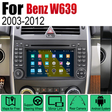 For Mercedes Benz W639 2003~2012 NTG Car Android GPS Navigation DVD Player Radio Stereo BT USB SD AUX WIFI HD Screen Multimedia цена