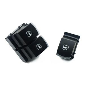 Chrome Mater Single Window Control Switch For VW Golf 5 6 Touran Passat B6 B7 CC Caddy Tiguan Polo Touran 5K3959857 & 5ND959855