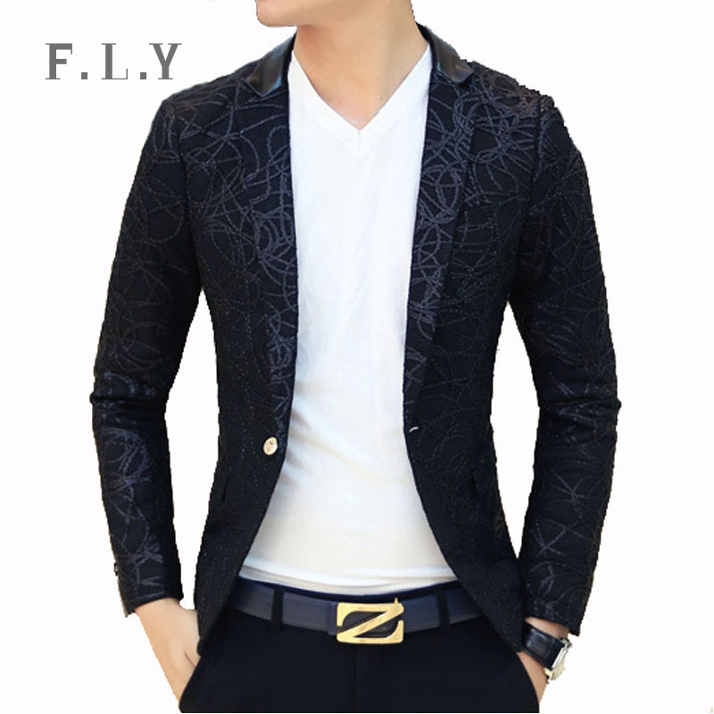 Aliexpress.com : Buy 2015 New arrival stamp casual men blazer ...