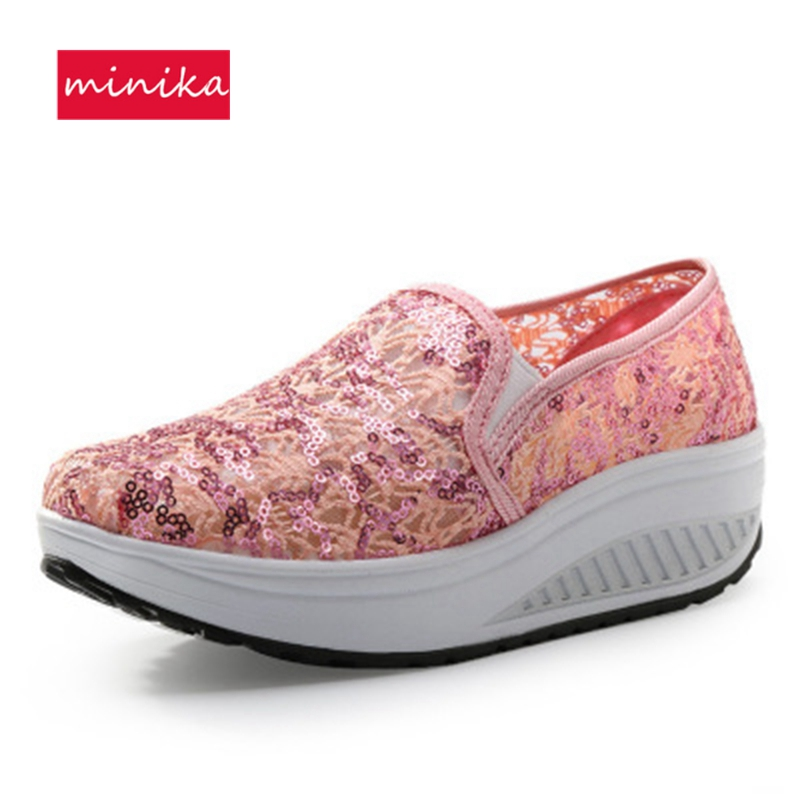 2018 4 Farben Frühling Schütteln Toning Schuhe Frauen Plattform Schuhe Mujer Körperformung Fitness Schuhe Schlankheits Swing Schuhe Für Weibliche Toning-schuh