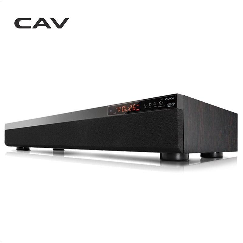 CAV TM900 Barre De Son Bluetooth 3.1CH DTS Surround Sans Fil En Bois Home Cinéma 3D Stéréo Colonne Barre de Son de Musique Pour TV Coaxial AUX