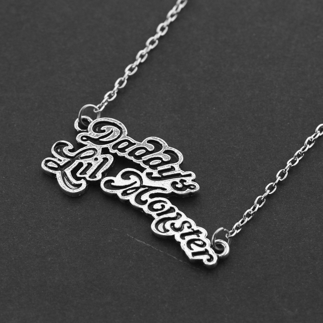Cool Suicide Squad Necklace Harley Quinn Joker Daddy's Lil Monster Pendants Alloy Necklace