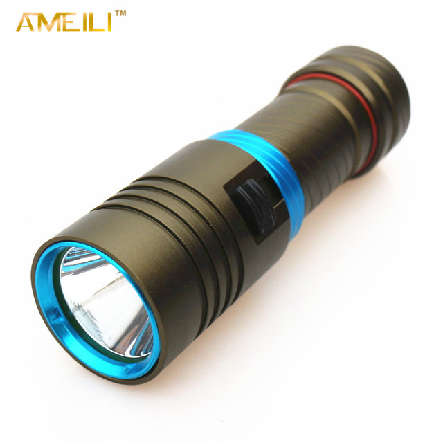 3800Lm Dive 80 Meter XM-L2  Waterproof Underwater LED Diving Camping Lanterna Flashlight Torch Lamp Light With Stepless dimming