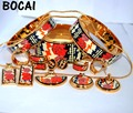 009 Cloisonne enamel jewelry European and American style 4pcs sets