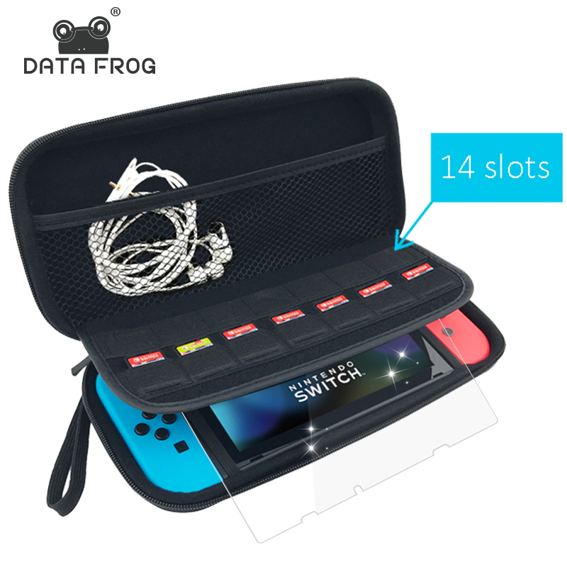 Data Frog Protective Hard Carry Case For Nintend Switch Travel Anti Shock Storage Bag For Nintendo Switch Game Accessories eva hard bag storage travel carry pouch cover for nintendo switch for ns nintend switch protective case black blue