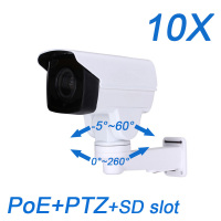 New FULL HD 2MP 1080P MINI PTZ PoE IP Onvif 10X Optical Zoom IR 80M Outdoor