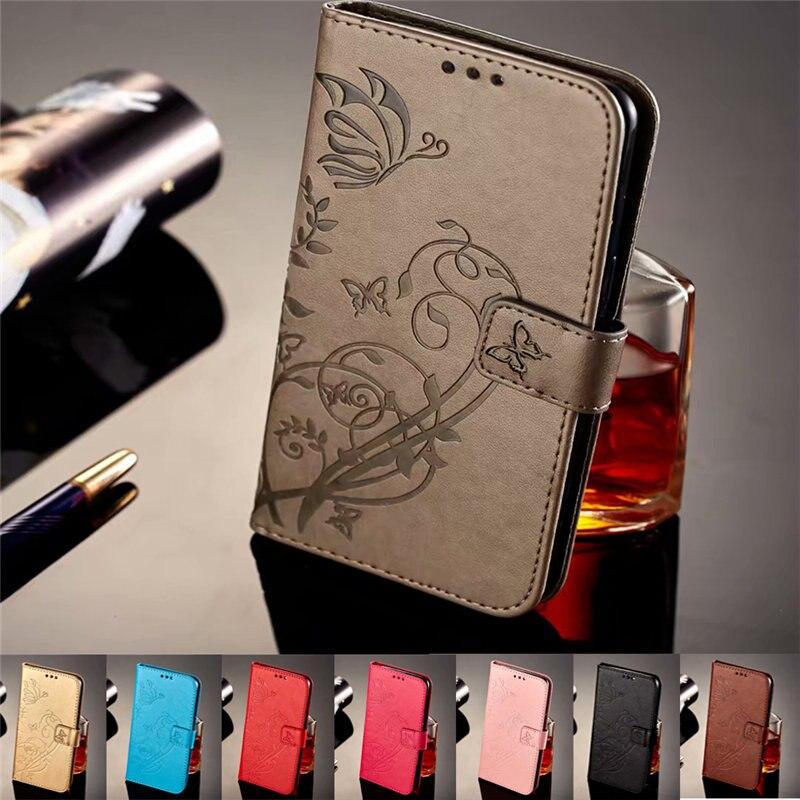 Blumenmuster Ledertasche für Huawei Y5 II Fall Flip Wallet Stand - Handy-Zubehör und Ersatzteile
