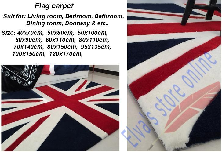 50x80cm UK English Fag Carpet Cartoon Handmade Living Room Parlor Bedroom Dining Hallway Doorway Bathroom Mats Rugs Cushion In From Home