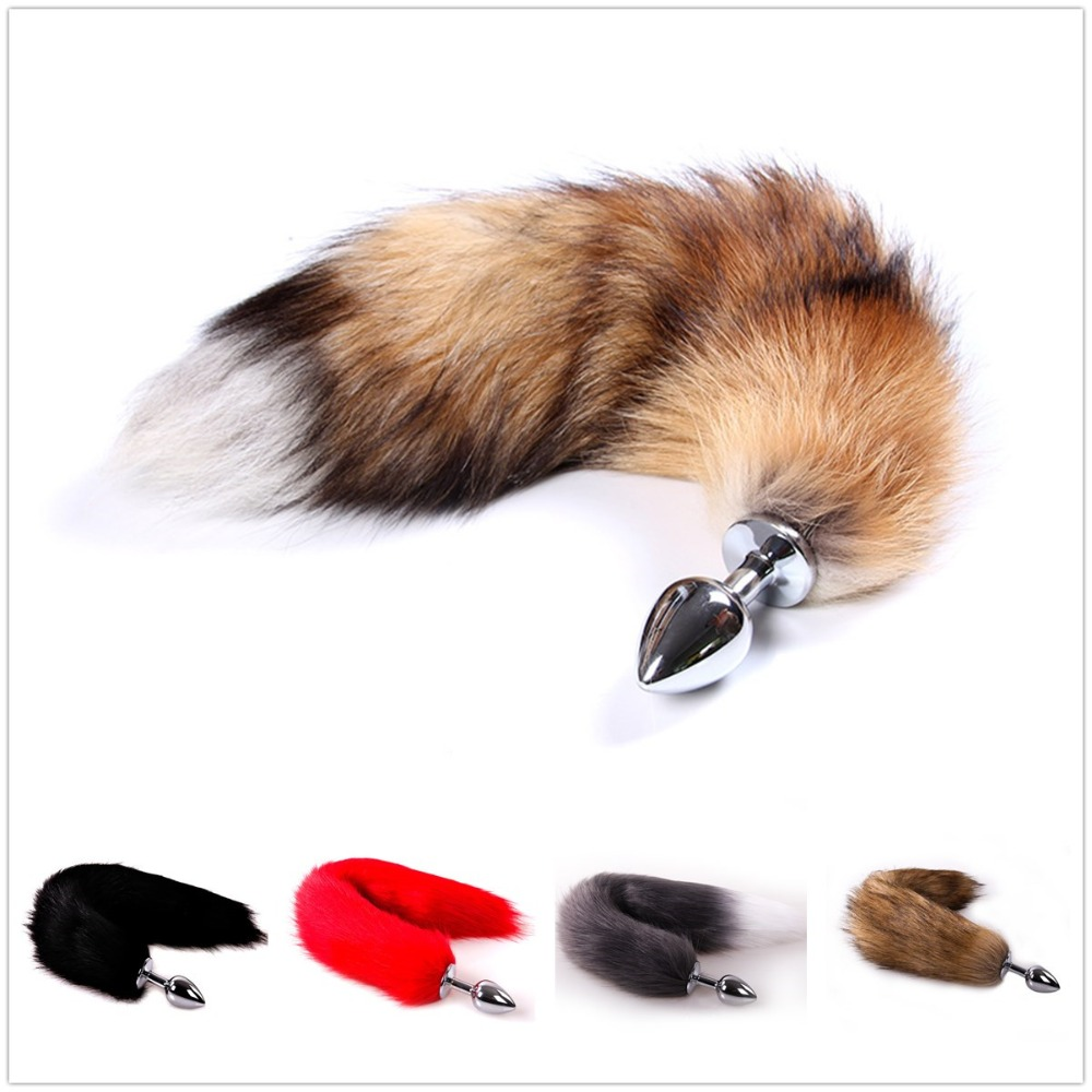 Anime Cosplay Fox Tail Unisex Halloween Family Cos Props Couples Life Flirting Tail Anal Plug Wide Varieties Costume Props