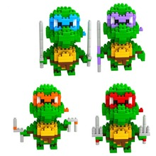 Diamond small particles assembled puzzle blocks inserted Creative Toys Teenage Mutant Ninja Turtles