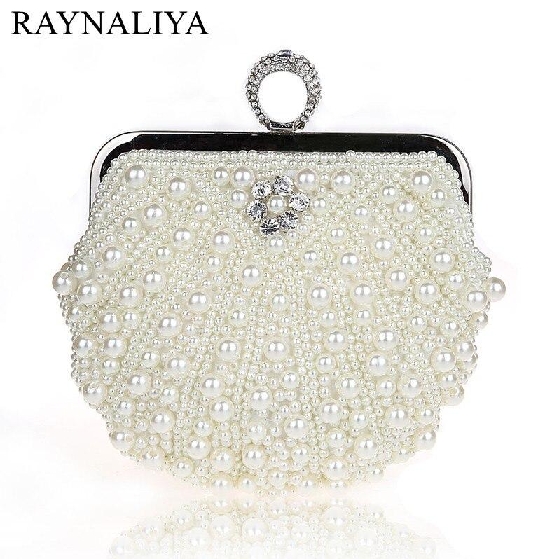 Beading Frame Beaded Pearl Evening Bags Clutch Women Clutches Lady Wedding Bag Handbags Purse Shoulder Handbag Smysfx-e0147