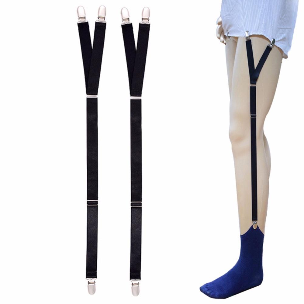 Men Adjustable Shirt Holder Military Straight Stirrup Suspenders Elastic Business Suspender Uniform Shirt Stays Garter