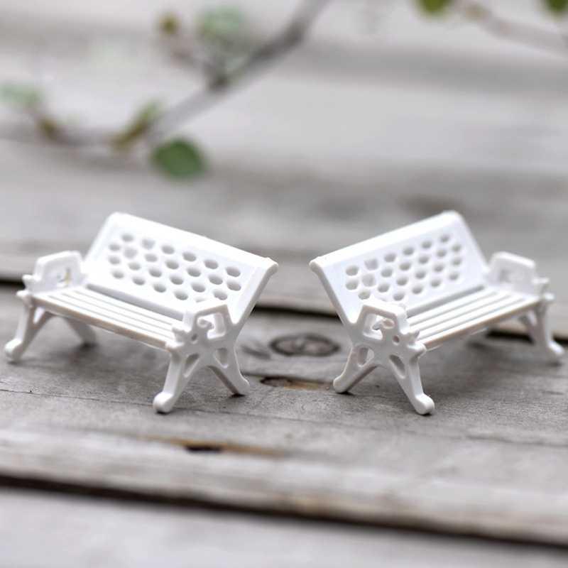 2019 nowy krzesło ogród rzemiosło puli wróżka Ornament miniaturowe figurki domek dla lalek wystrój narzędzia ogrodowe