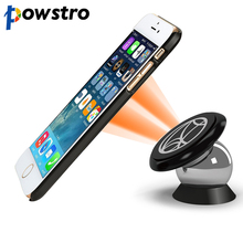 Powstro Magnetic Car Phone Holder 360 Degrees UF-A Car Mount Kit Bracket Magnet Mount for iPhone iPAD SAMSUNG HUAWEI SONY GPS