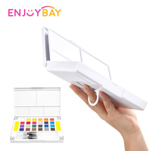 Enjoybay 12/18/24/36 Solid Watercolor Painting Pigment Set Professional Paint Art Supplies Portable Drawing Toys for Kids Adults