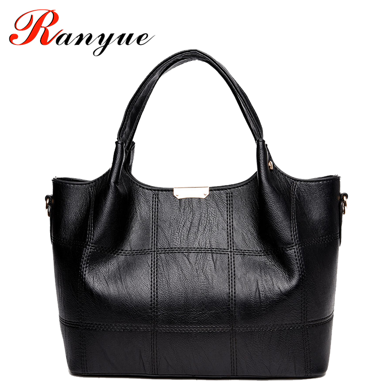 RANYUE New Fashion Woman Shoulder Bags Famous Brand Luxury Handbags Women Bags Designer High Quality PU Totes Women Mujer Bolsas сумка через плечо bolsas femininas couro sac femininas couro designer clutch famous brand