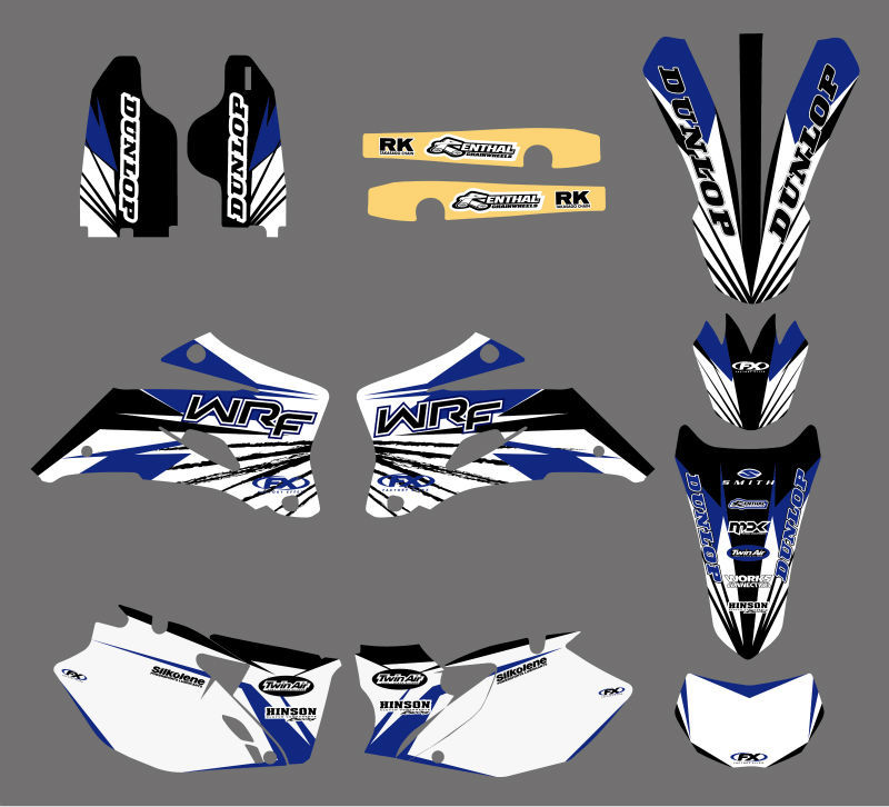 GRAPHICS & BACKGROUNDS DECALS <font><b>STICKERS</b></font> Kits For <font><b>Yamaha</b></font> WR250F <font><b>WR450F</b></font> 2007 2008 2009 2010 2011 WR 250F 450F WR 250 450 F image