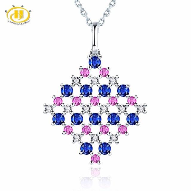 Hutang diamond jewelry natural sapphire ruby 18k white gold hutang diamond jewelry natural sapphire ruby 18k white gold pendant necklace fine stone aloadofball Image collections