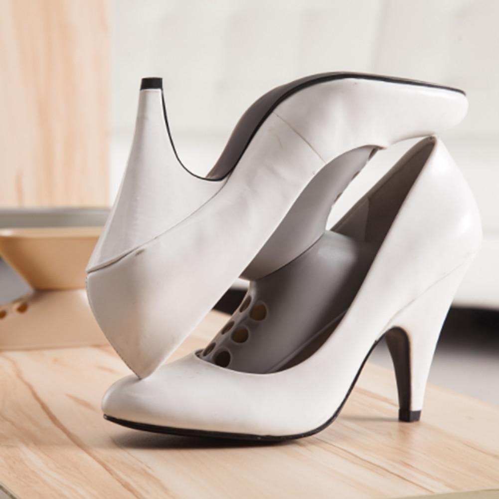 Double Shoe Rack Plastic Shoe Shelves Double Layer Shoe