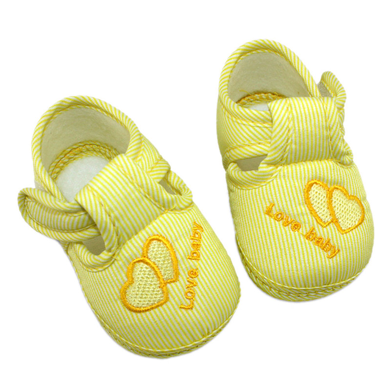 Nice Heart Style Kids Newborn Baby Infant Toddler Soft Sole Anti-Slip Shoes 0-12M