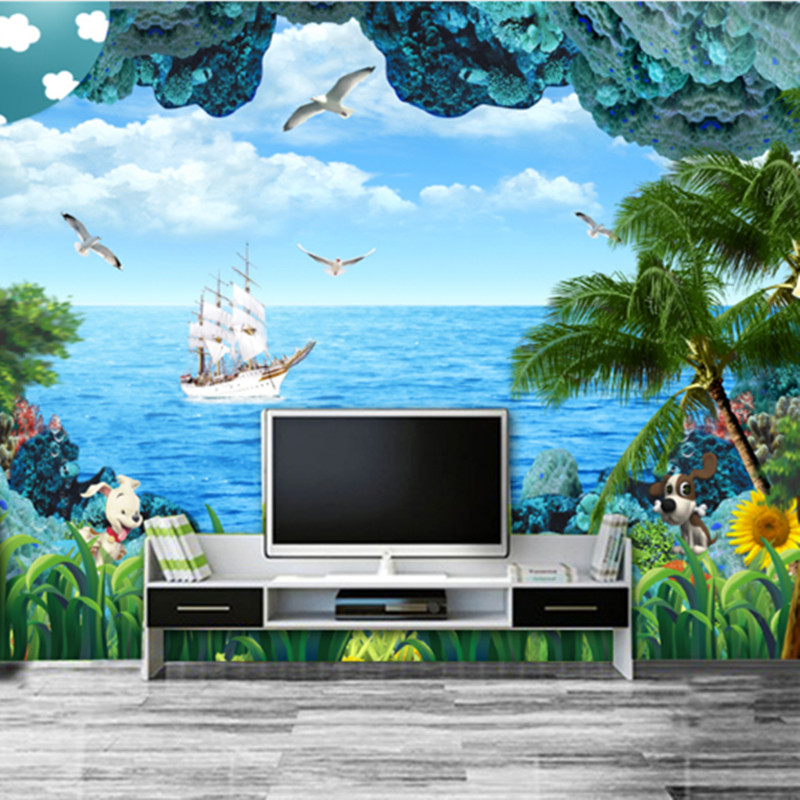 Custom Large HD Wallpapers 3D Stereoscopic Landscape Wall Murals