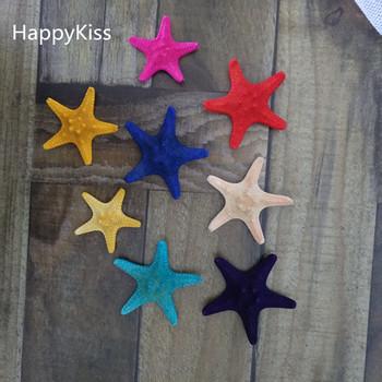 HappyKiss 2 sztuk naturalna rozgwiazda muszle muszla dekoracji styl marynistyczny ślub na parze kok rozgwiazda 3-5cm kolory rozgwiazda tanie i dobre opinie Happy Kiss Maskotka Organiczny materiał MEDITERRANEAN Zhejiang China (Mainland)