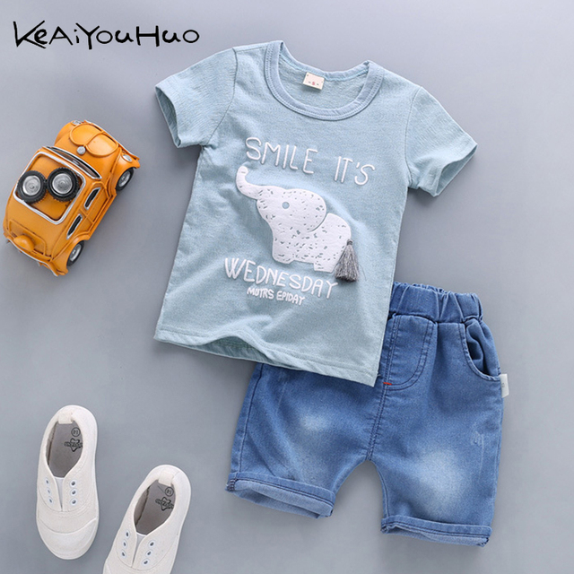 Baby Boys Clothing Sets 2019 Summer Kids clothes Children T Shirt pants 2pc Toddler Cartoon Clothes Boys Sportwear 1 2 3 4 Years