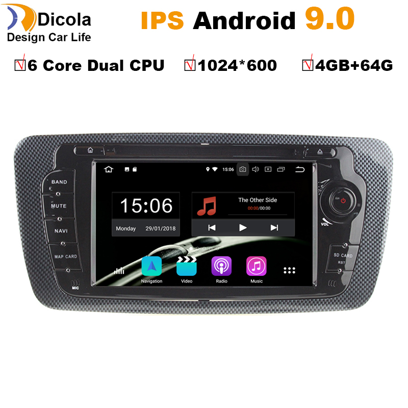 4G 64G Android 9 0 Car DVD Rdio For Seat Ibiza 6j 2009 2010 2012 2013