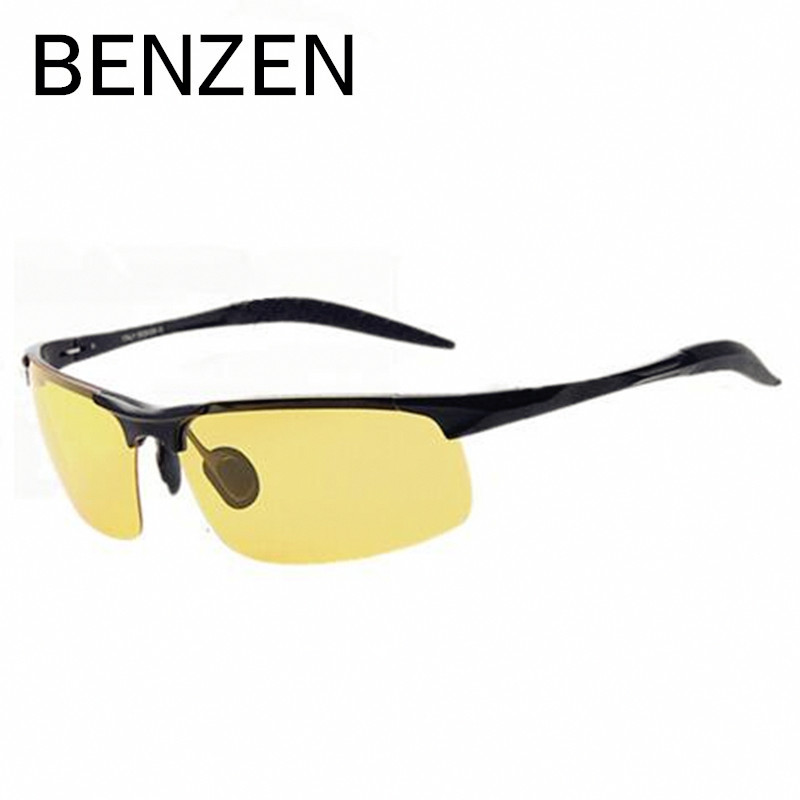 BENZEN Nachtsichtbrille Herren Legierung Gelbe Linsen - Bekleidungszubehör - Foto 3