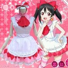 Япония аниме любовь онлайн девушки косплей костюм розовый цвет Lovelive минами Kotori лолита Fruitfresh хэллоуин костюмы