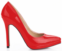 BIG SIZE 43 New Classic Women Pointed Toe Platform Pumps Lady 12 Cm High Heeled OL