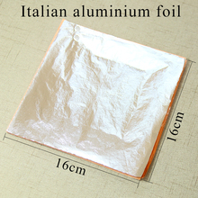 100 sheets Italian aluminum imitation silver leaf foil for Art crafts Home Furniture decorations 16X16cm free shipping