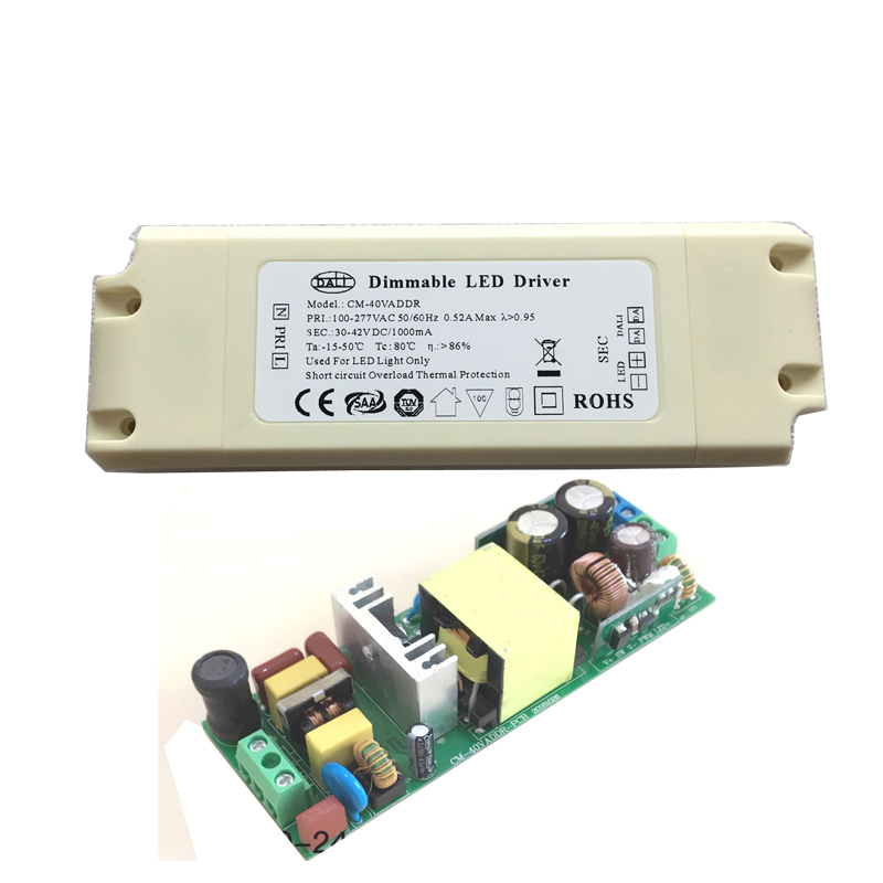 Dimmable DALI LED Driver Transformer AC to DC Switching Power Supply IP20 for Commercial Lighting Dimming