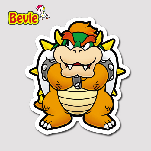 Bevle 1352 super mario bowser kuba 3m sticker waterproof laptop luggage fridge skateboard car graffiti cartoon tide sticker in stickers from toys hobbies