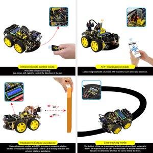 Image 5 - Keyestudio 4WD Bluetooth multi fonctionnel bricolage voiture intelligente pour Arduino Robot éducation programmation + manuel dutilisation + PDF (en ligne) + vidéo