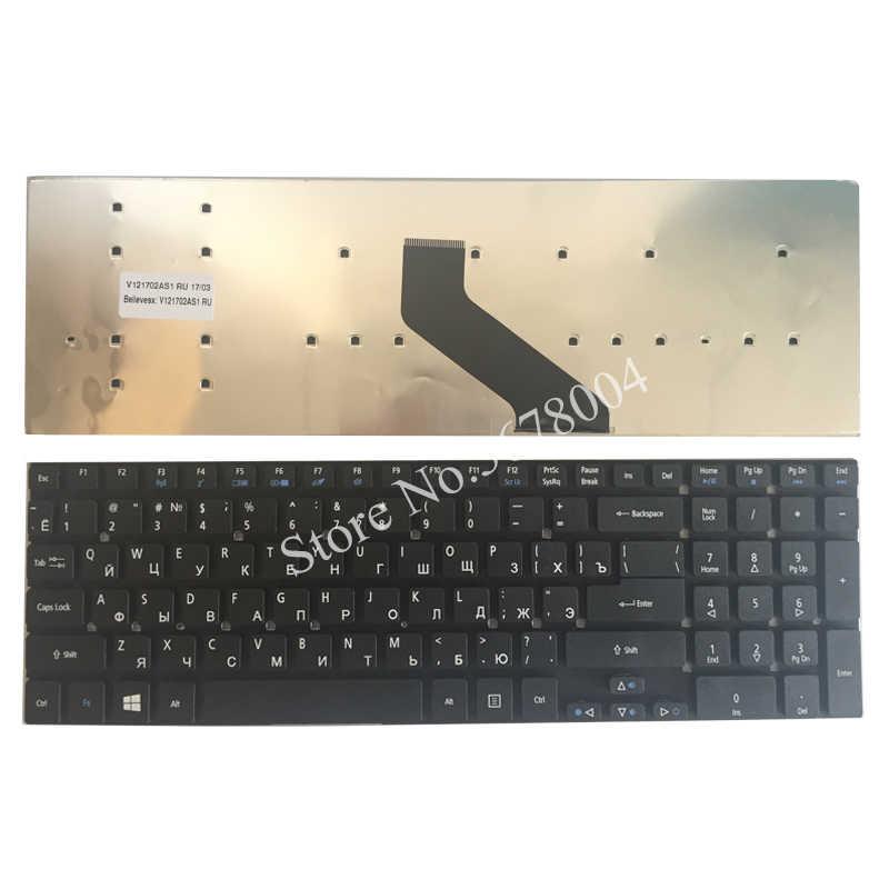 מקלדת מחשב נייד רוסית עבור Acer Aspire V3-531 V3-772 V3-531G E1-570 V5-561 V5-561G E1-570G V3-7710 V3-7710G V3-772G RU שחור