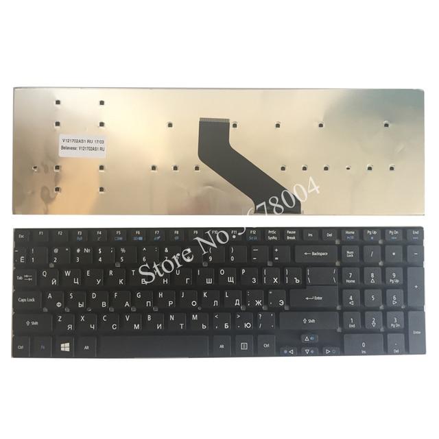 Rosyjski laptop klawiatura do Acer Aspire V3-531 V3-772 V3-531G E1-570 V5-561 V5-561G E1-570G V3-7710 V3-7710G V3-772G RU czarny